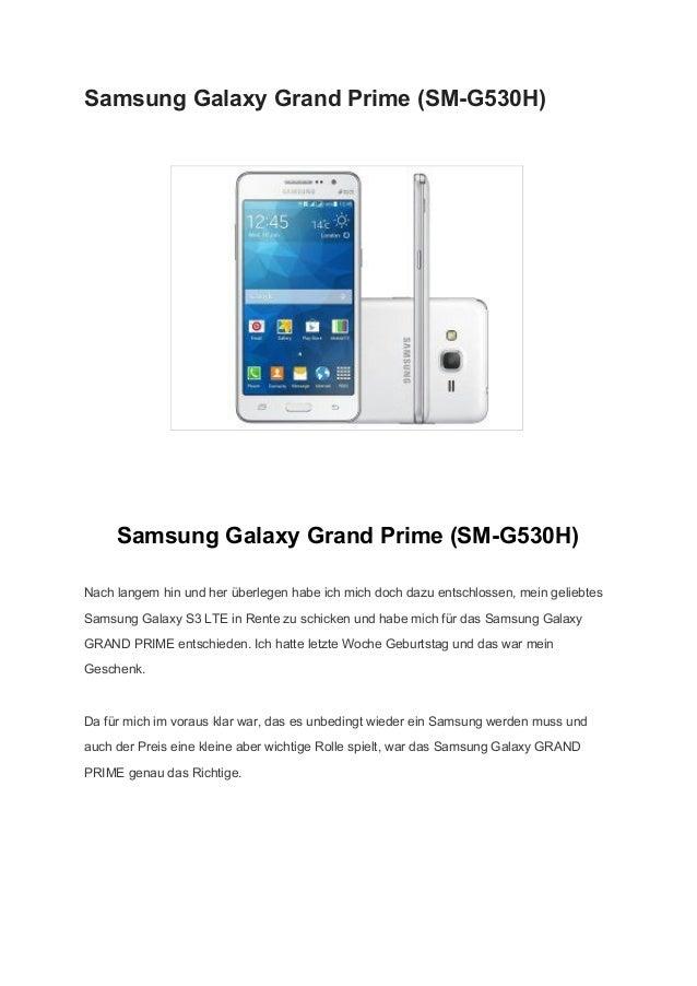 SamsungGalaxyGrandPrime(SMG530H)    SamsungGalaxyGrandPrime(SMG530H) Nachlangemhinundherüberlegenhabe...