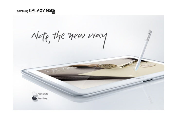 Introducing SAMSUNG GALAXY Note 10.1