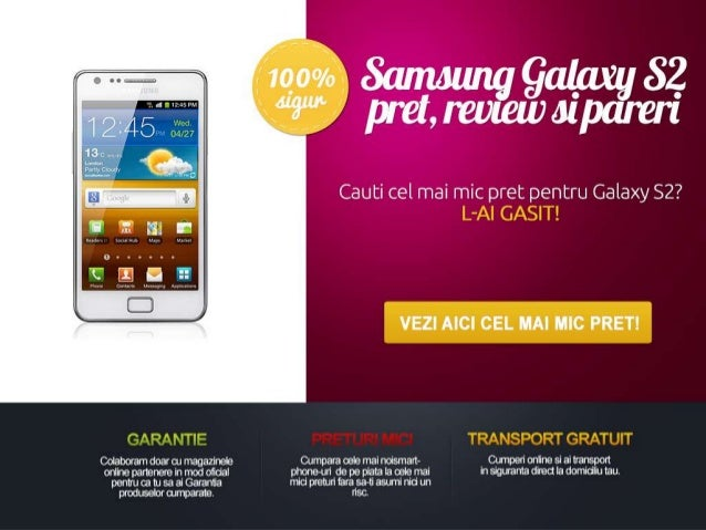 Samsung galaxy s2 pret, review si pareri