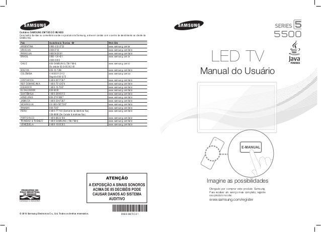 Samsung TV LED Série 5500 Manual de Instruções da Televisão