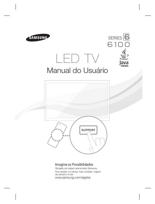 Samsung TV LED Série 6100 Manual de Instruções da Televisão