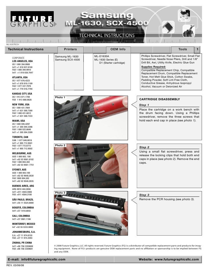 ML1630TECH   Technical Instructions               Printers                                     OEM Info                   ...