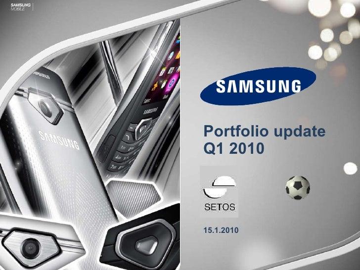 Portfolio update  Q1 2010 15.1.2010