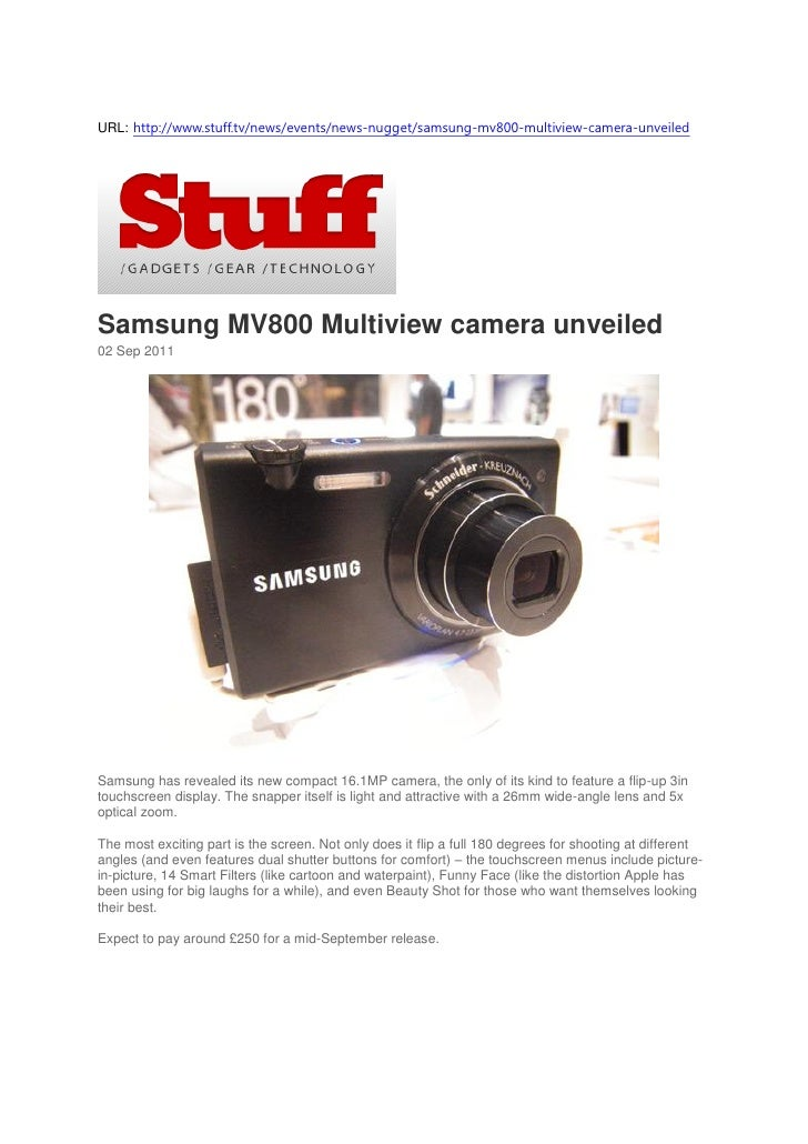 URL: http://www.stuff.tv/news/events/news-nugget/samsung-mv800-multiview-camera-unveiledSamsung MV800 Multiview camera unv...