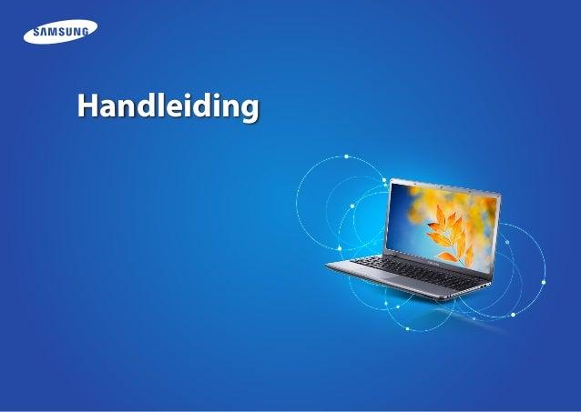 Samsung notebook handleiding