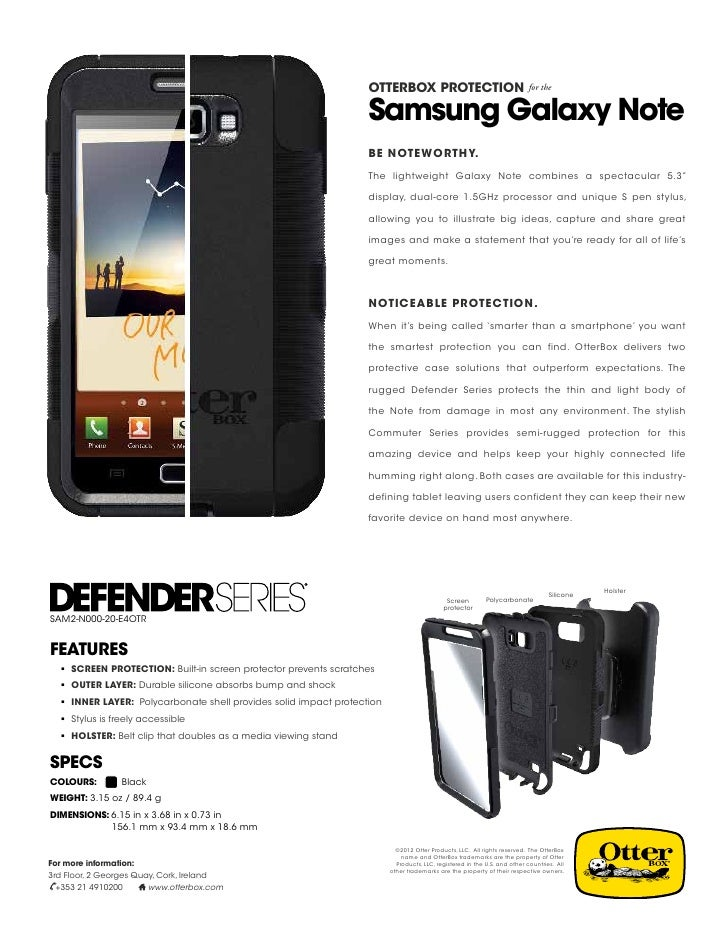 OtterBox for the Samsung Galaxy Note