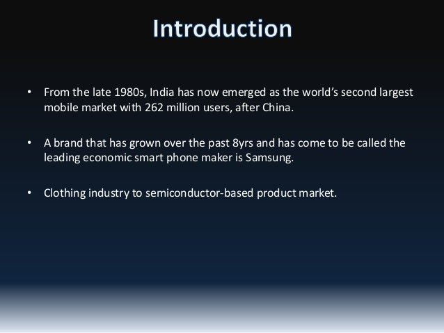 • From the late 1980s, India has now emerged as the world's second largest mobile market with 262 million users, after Chi...