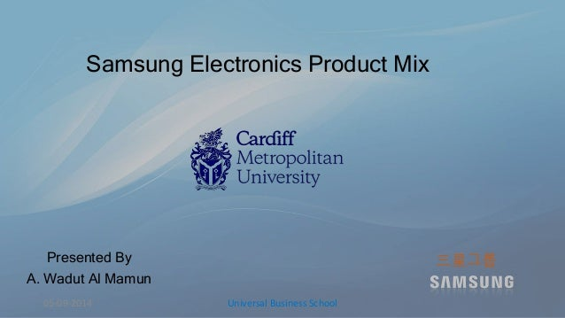 product mix of samsung A study on the product life cycle of samsung smartphone's in india  marketing mix is referred to blend of product,.