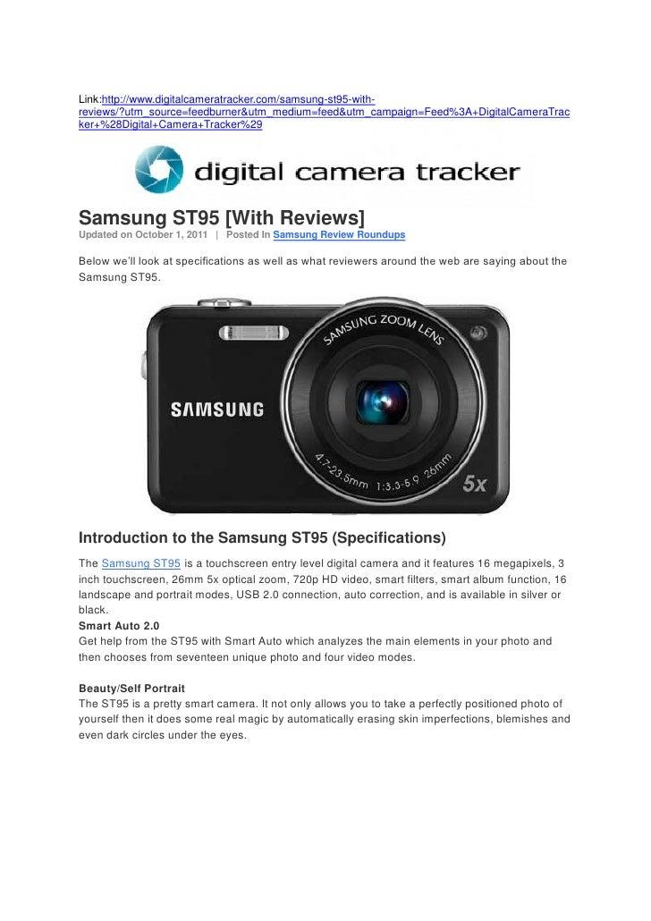 Samsung ST95 [With Reviews] (Digital Camera Tracker)