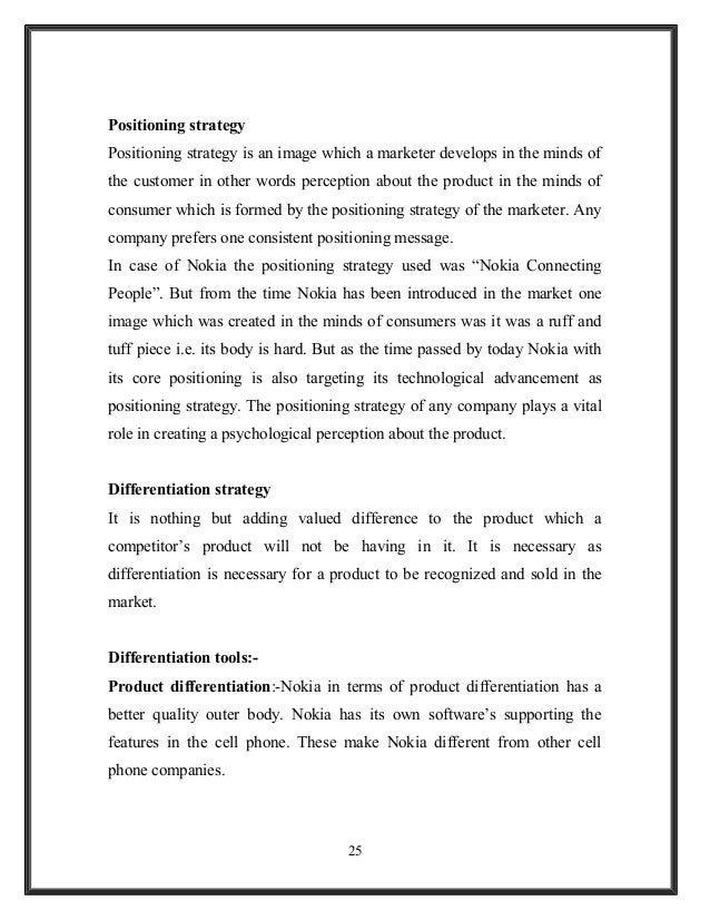 product positioning essay 4 marketing models for product strategy  a firm's relative position within an  industry is given by its choice of competitive advantage (cost leadership vs.