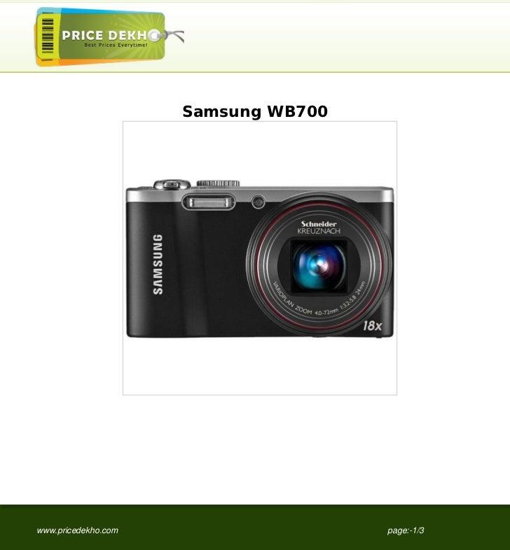Samsung WB700www.pricedekho.com                   page:-1/3