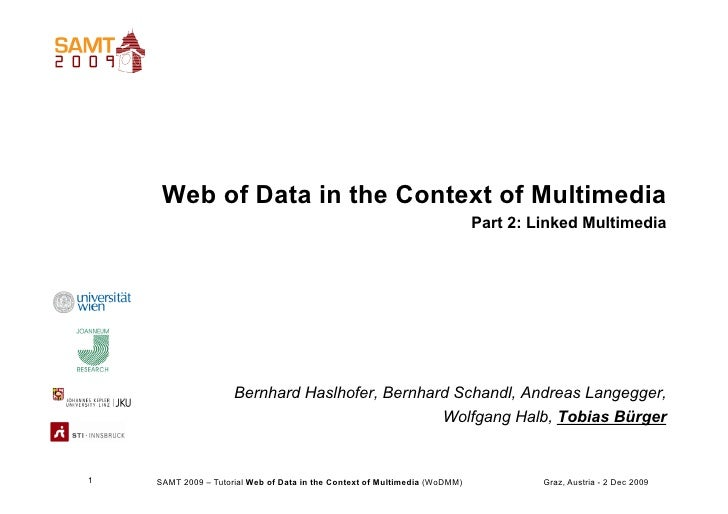 Web of Data in the Context of Multimedia                                                                             Part ...