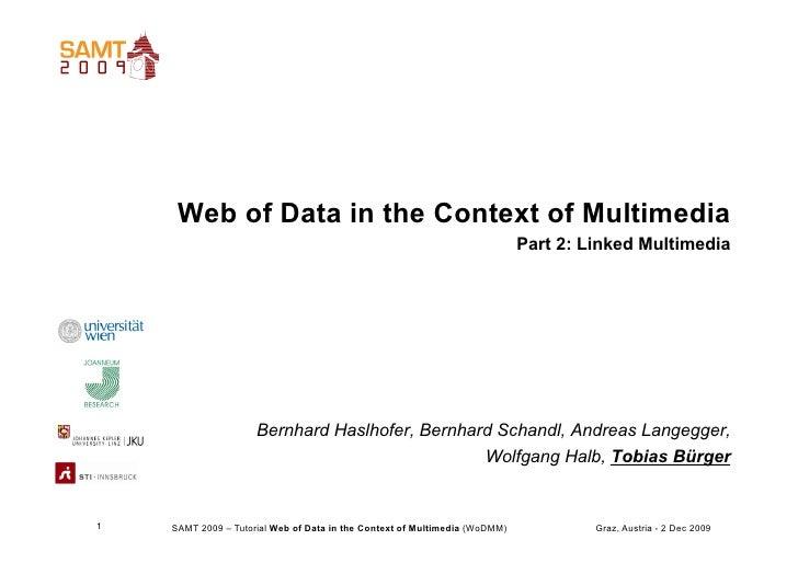 SAMT09 - Web of Data Tutorial - Part 2