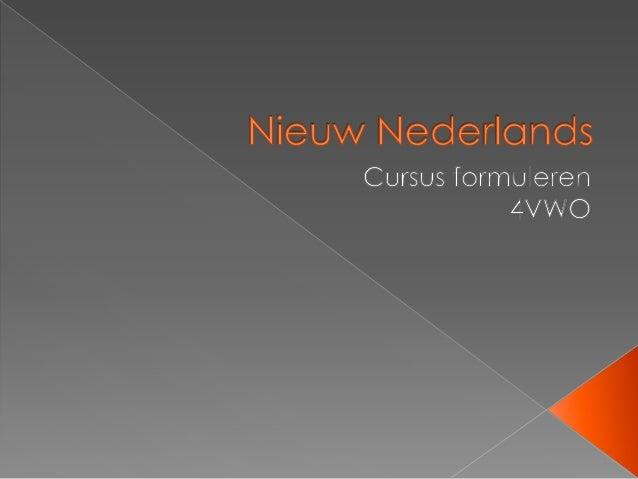 Nieuw Nederlands samenvatting 4V [cursus formuleren]