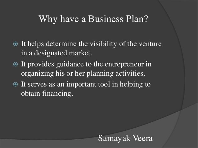 Why have a business plan