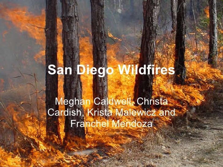 San Diego Wildfires Meghan Caldwell, Christa Cardish, Krista Malewicz and Franchel Mendoza