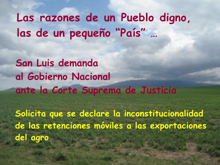 San Luis demanda  al Gobierno Nacional ante la Corte Suprema de Justicia Solicita que se declare la inconstitucionalidad d...