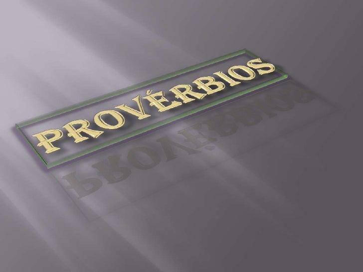 Provérbios<br />
