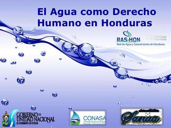 El Agua como DerechoHumano en Honduras                   Page 1