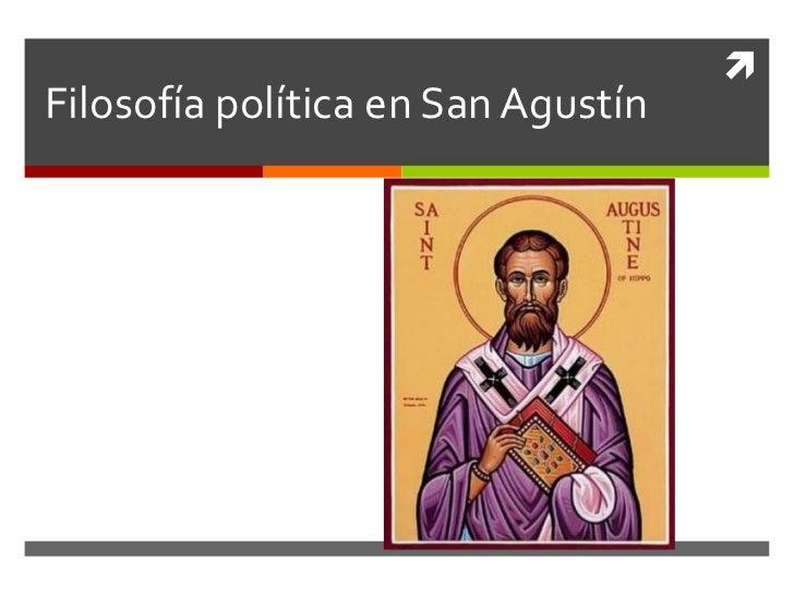 Filosofía política en San Agustín