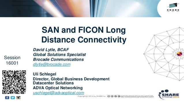 Insert Custom Session QR if Desired. SAN and FICON Long Distance Connectivity David Lytle, BCAF Global Solutions Specialis...