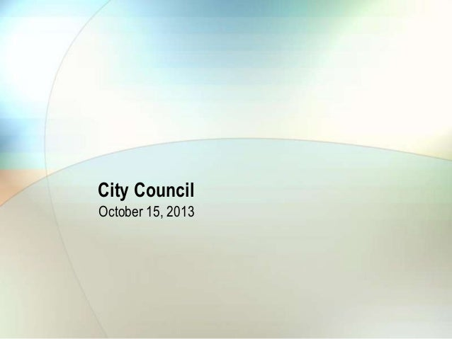 City Council October 15, 2013