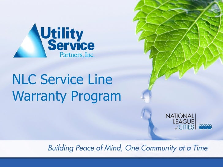 NLC Service LineWarranty ProgramMay 2009S trictly C onfid e ntial