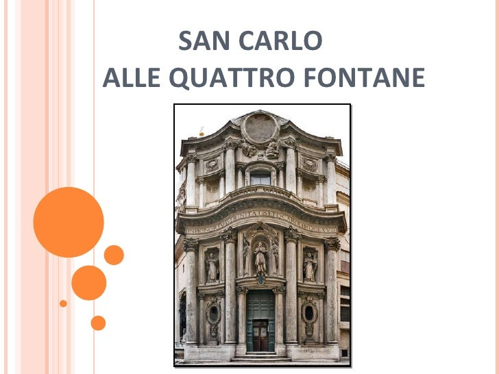 San Carlo A Lla Quatro Fontane