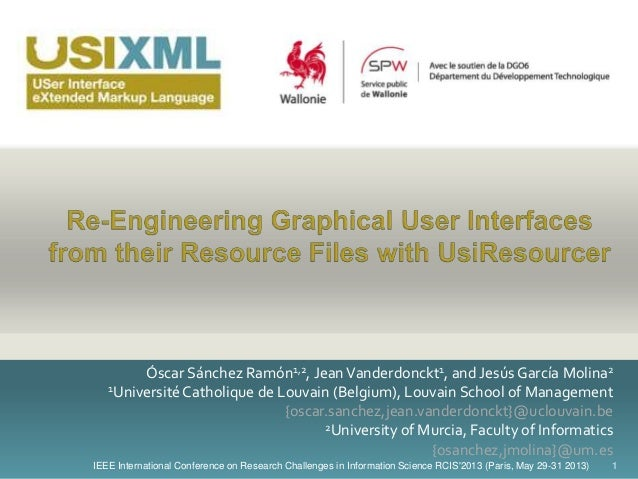 Re-Engineering Graphical User Interfaces from their Resource Files with UsiResourcer