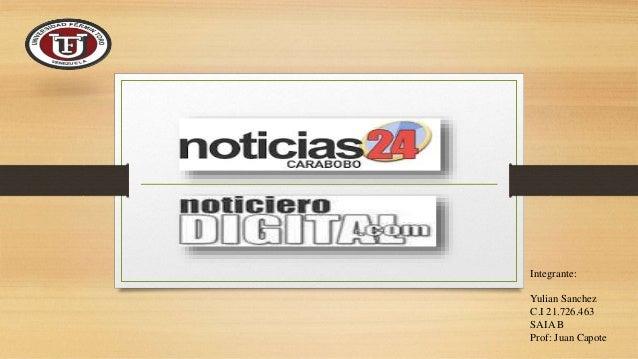 Integrante: Yulian Sanchez C.I 21.726.463 SAIA B Prof: Juan Capote