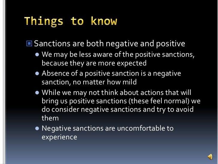 Positive Sanction of The Positive Sanctions