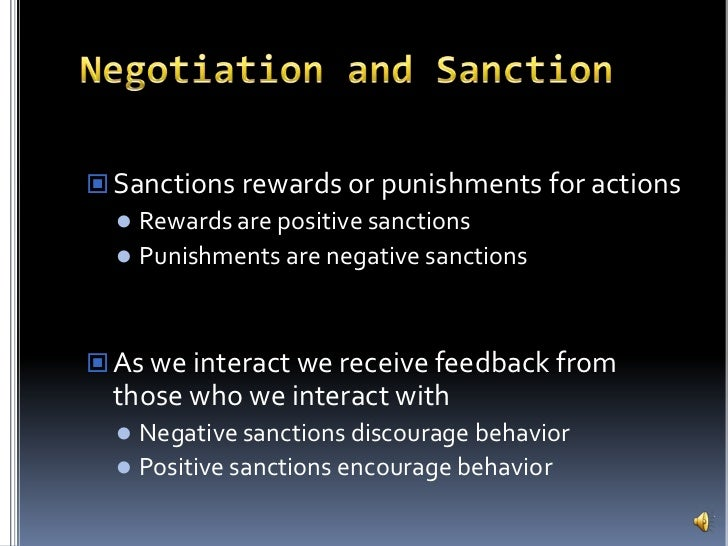Positive Sanction Are Positive Sanctions