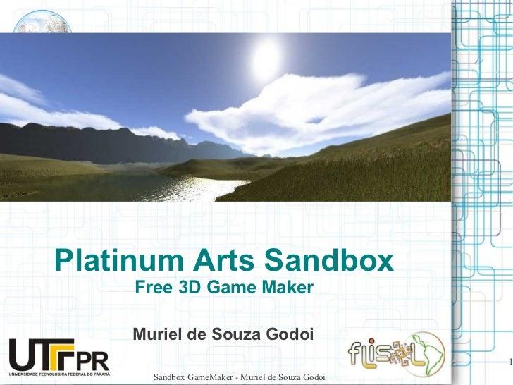 Platinum Arts Sandbox - Game Maker