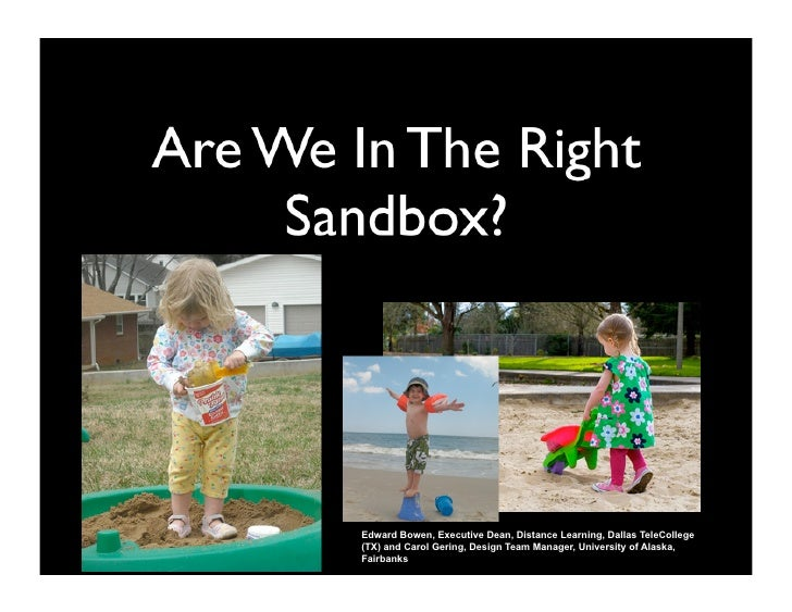 Are We in the Right Sandbox? BOWEN, GERING