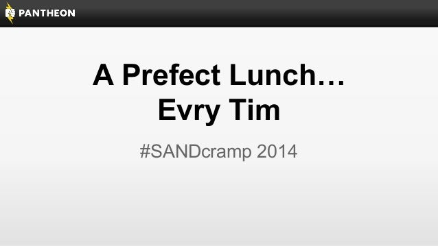 SANDcamp 2014 - A Perfect Launch, Every Time