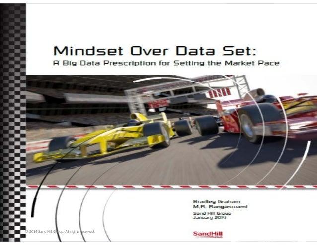 Mindset over Data Set Big Data Prescription for Setting the Market Pace January 2014 Bradley Graham M. R. Rangaswami  © 20...
