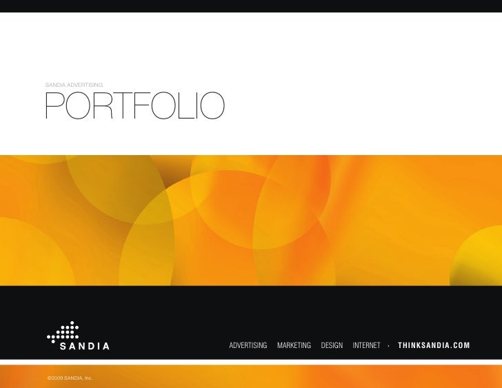 SANDIA ADVERTISING     PORTFOLIO                          ADVERTISING   MARKETING   DESIGN   INTERNET ›   THINKSANDIA.COM ...