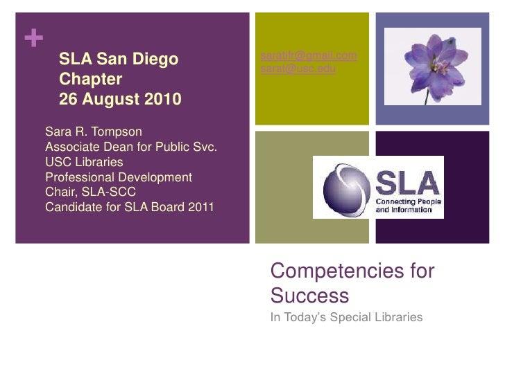 Tompson SLA-SD Talk 8/26/2010