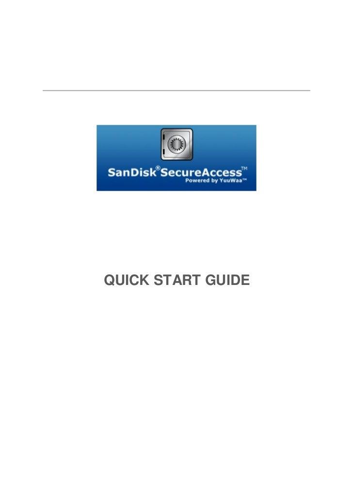 San disk secureaccess_qsg