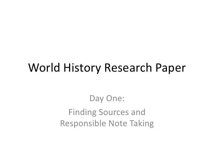 Historical research paper? Where can I find sources?