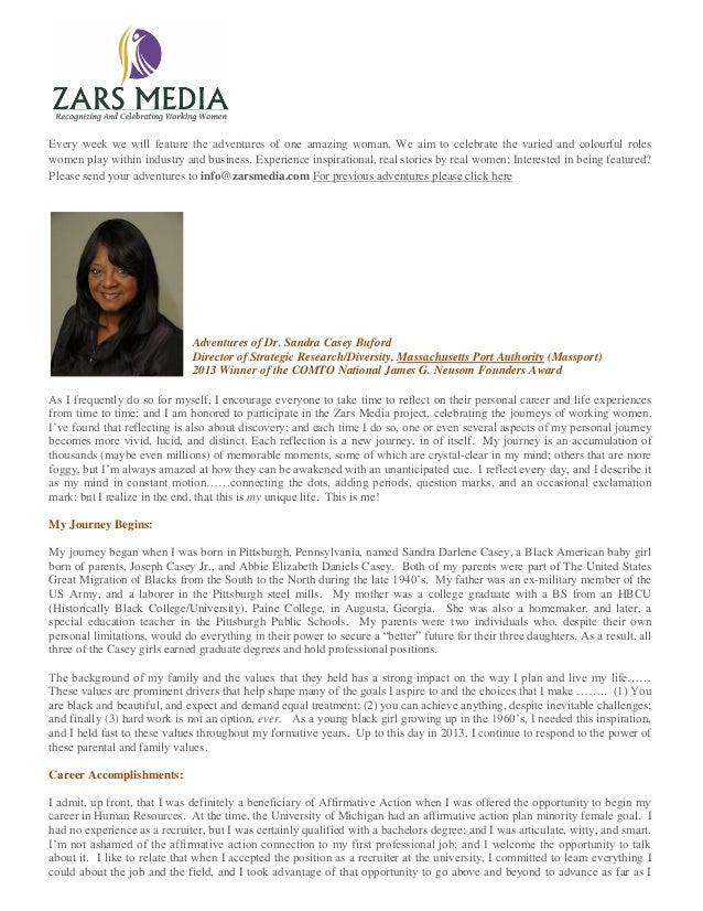 Adventures of Dr. Sandra Casey Buford Director of Strategic Research/Diversity, Massachusetts Port Authority (Massport) 2013 Winner of the COMTO National James G. Neusom Founders Award