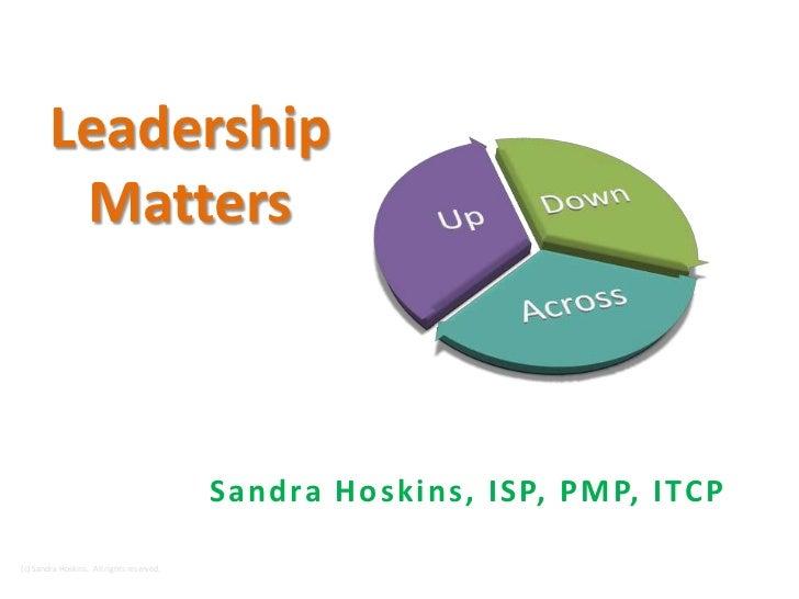 Sandra hoskins  leadership matters