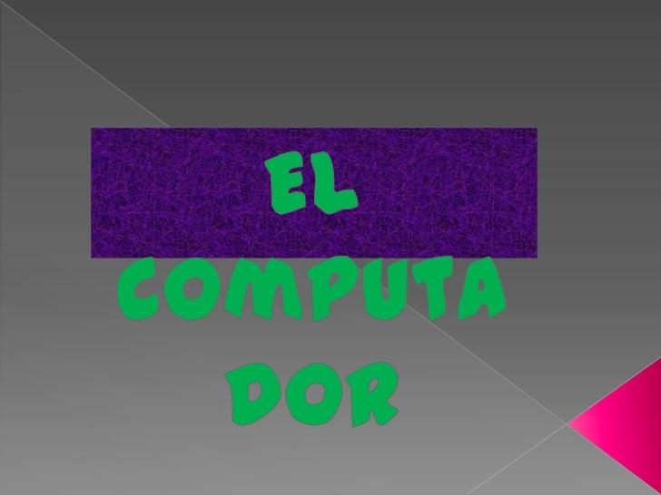    |El computador se conforma por dos partes fundamentales la cuales    son: el Software y el hardware. el software es l...