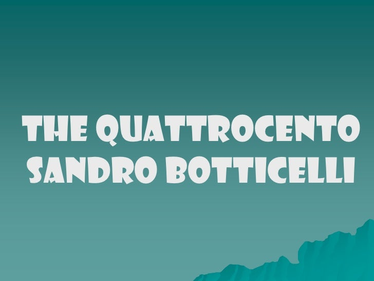 Sandro botticeli (1)