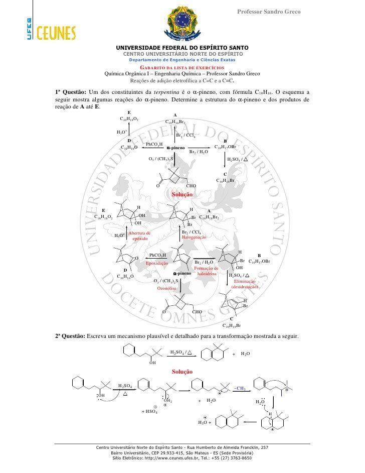 Professor Sandro Greco                               UNIVERSIDADE FEDERAL DO ESPÍRITO SANTO                              C...