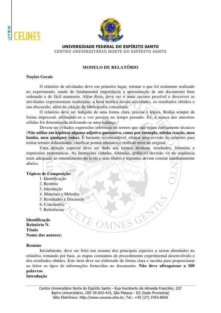 UNIVERSIDADE FEDERAL DO ESPÍRITO SANTO                 CENTRO UNIVERSITÁRIO NORTE DO ESPÍRITO SANTO                       ...