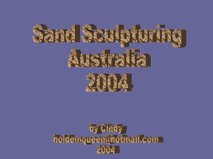 Sand sculpturing australia