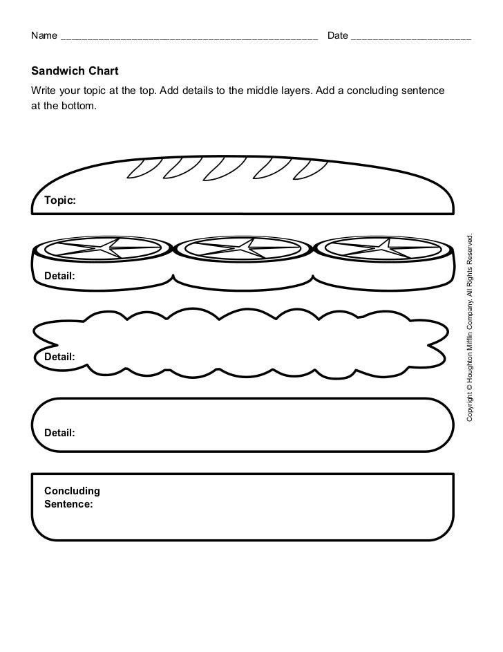 Sandwich Paragraph Organizer