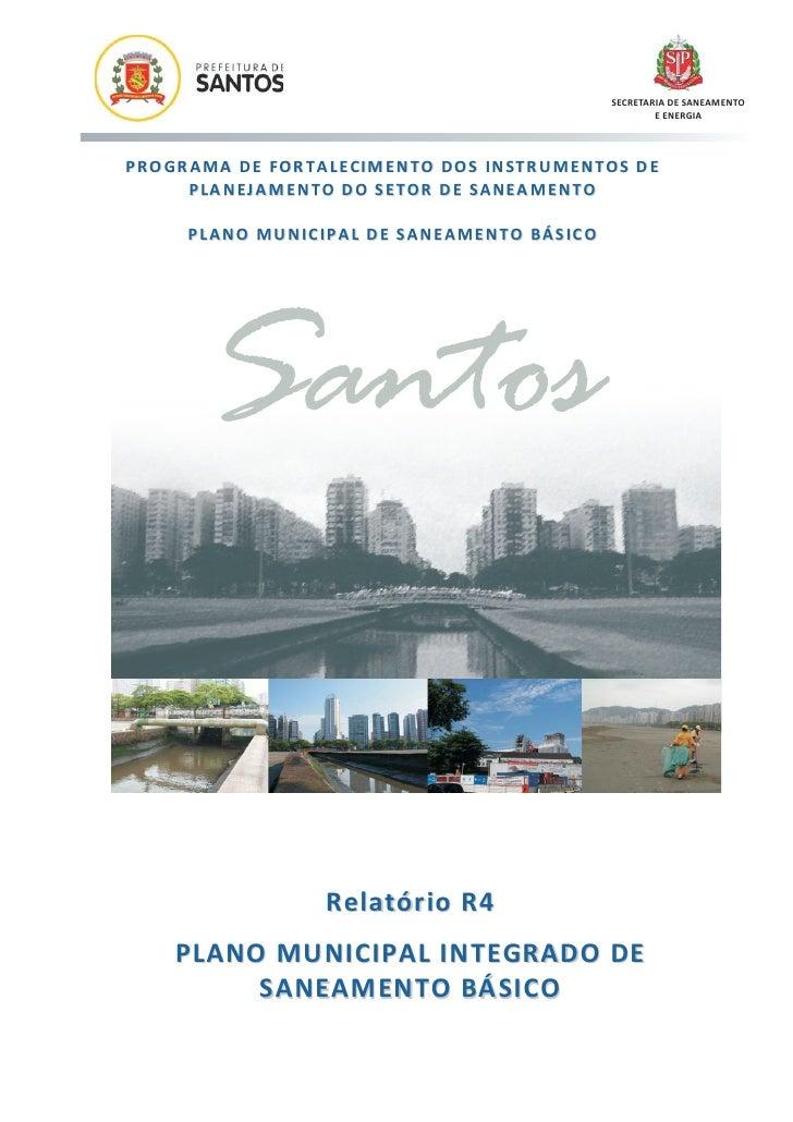 SECRETARIA DE SANEAMENTO                                                                            E ENERGIAP R O GR A MA...