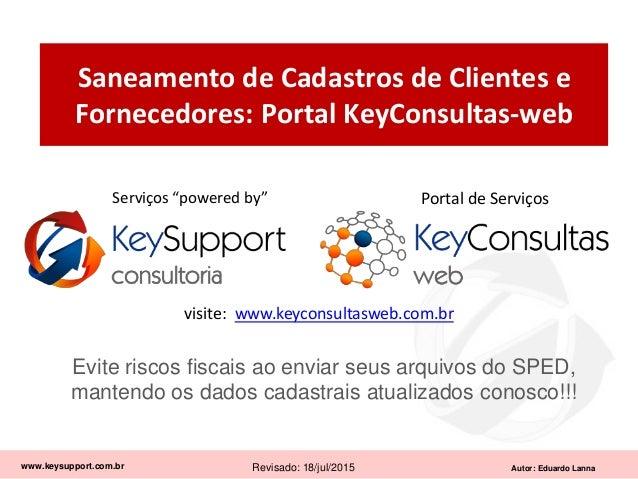 Saneamento de Cadastro de Clientes e Fornecedores (KeyConsultas-web)